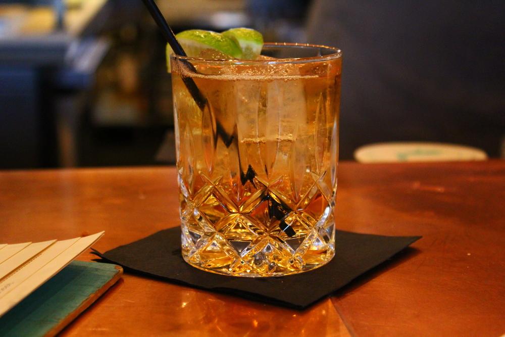 whiskey ginger lime