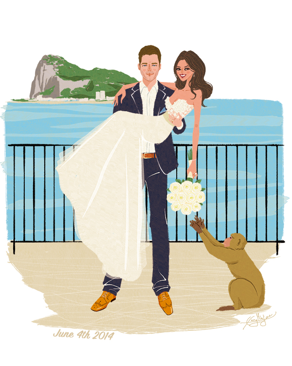 Wedding portrait as an anniversary gift