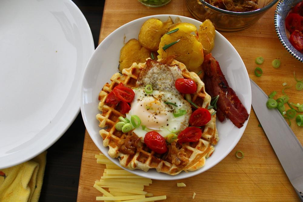 savory sunday waffles