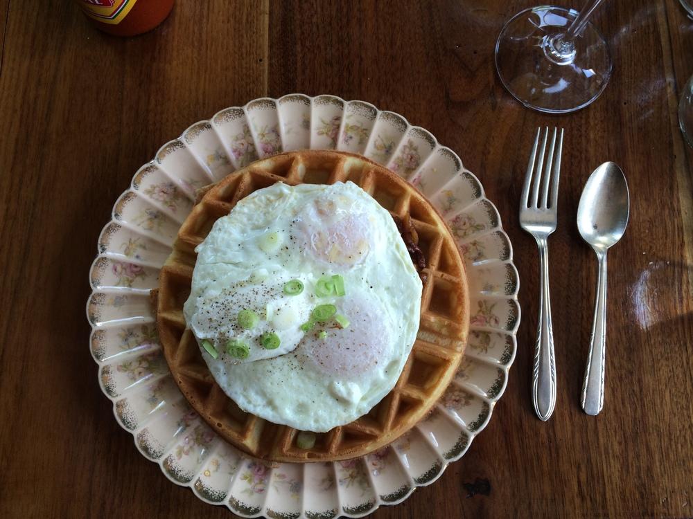 savory waffle at trinket