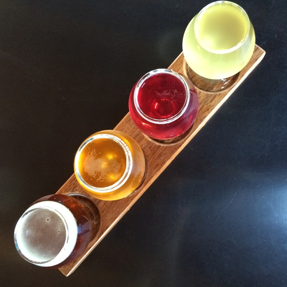 tasting flight at commons brewery