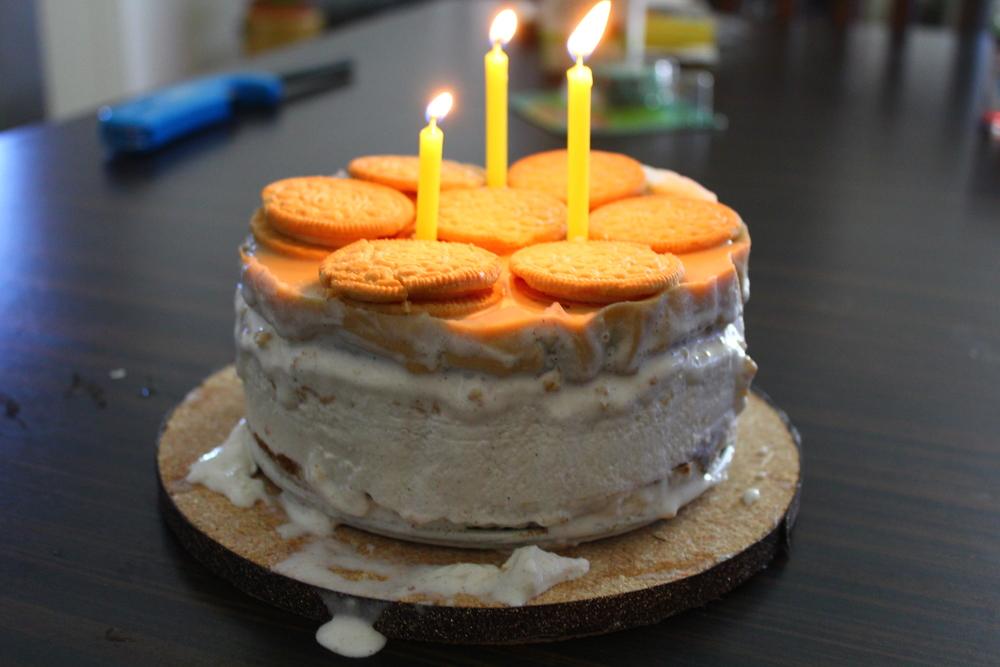 BLONDIE BROWNIE ICE CREAM CAKE