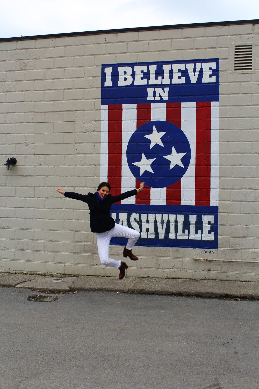 i believe in nashville wall