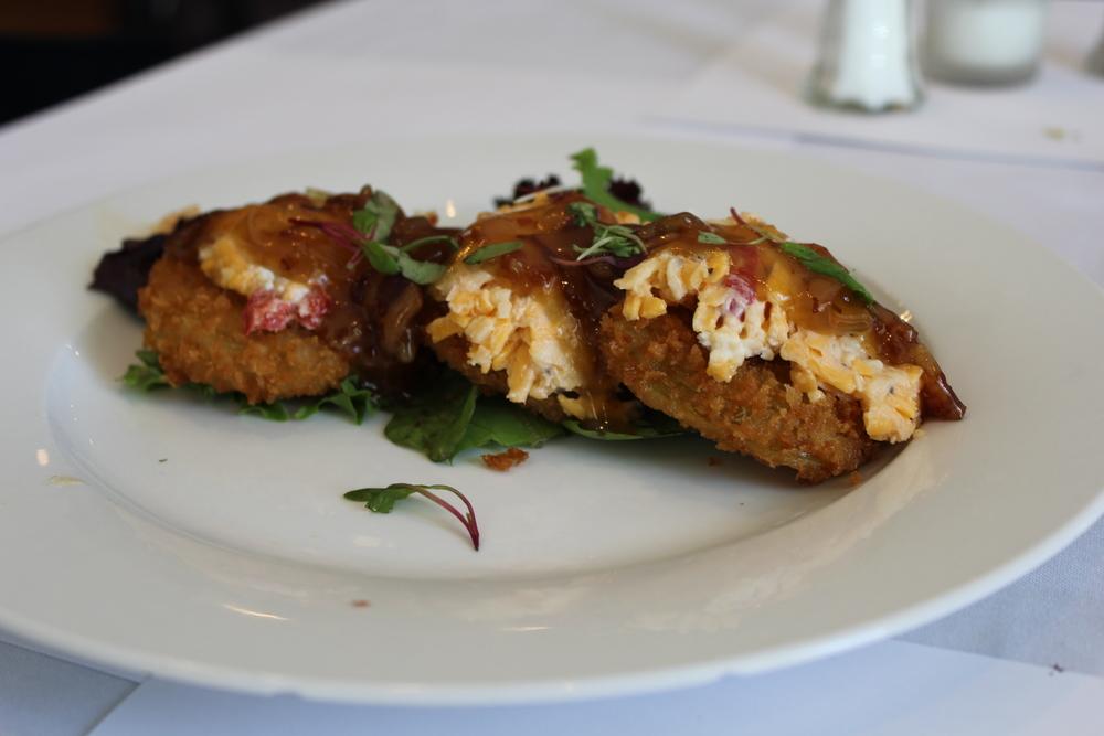fried egg tomatos