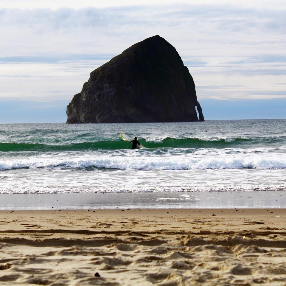 surfing pacific city