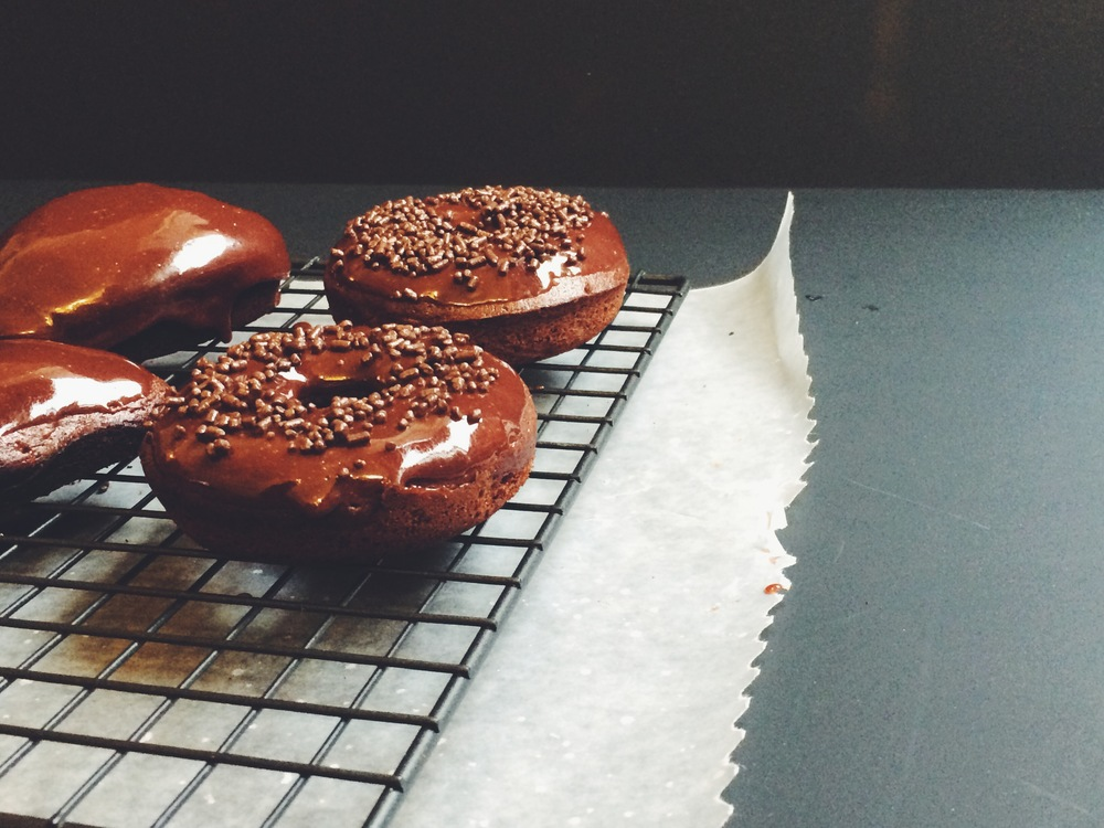 Baked Mexican Hot Chocolate Donuts