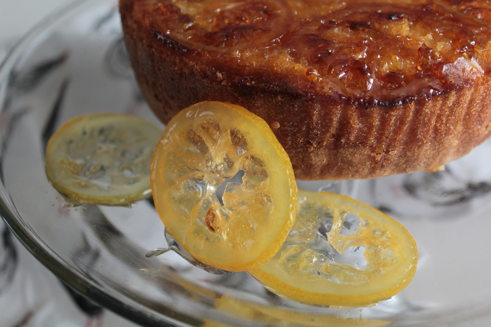 CANDIED LEMON OLIVE OIL CAKE