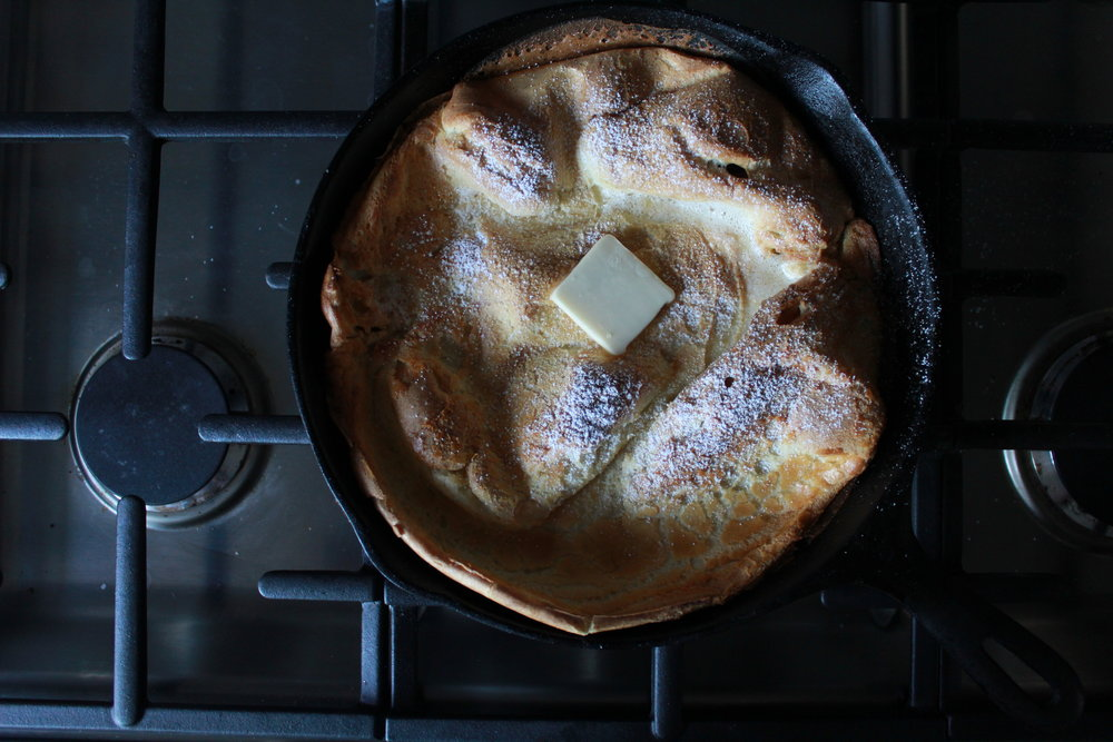 dutch baby with english provender lemon curd