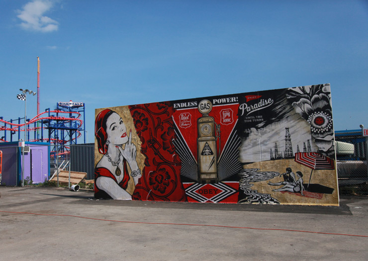 Coney Island mural by Shepard Fairey.