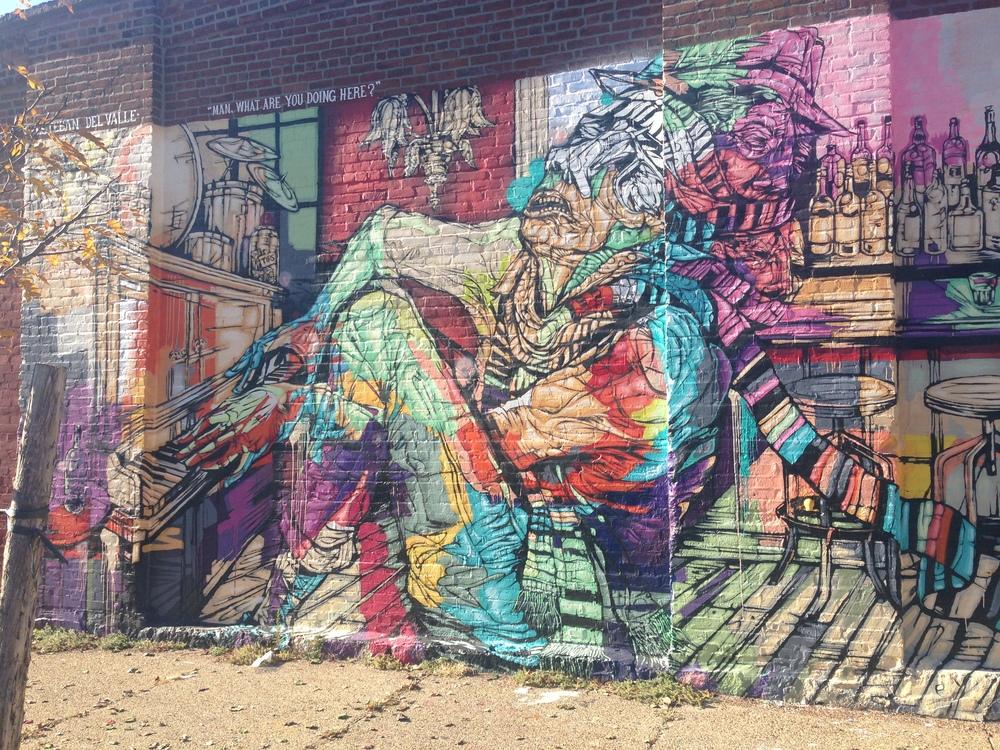 Red Hook mural by Esteban del Valle.
