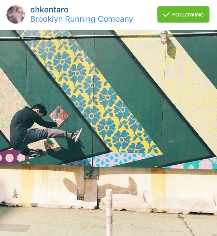 @ohkentaro  kicking it Brooklyn style in the street art run.