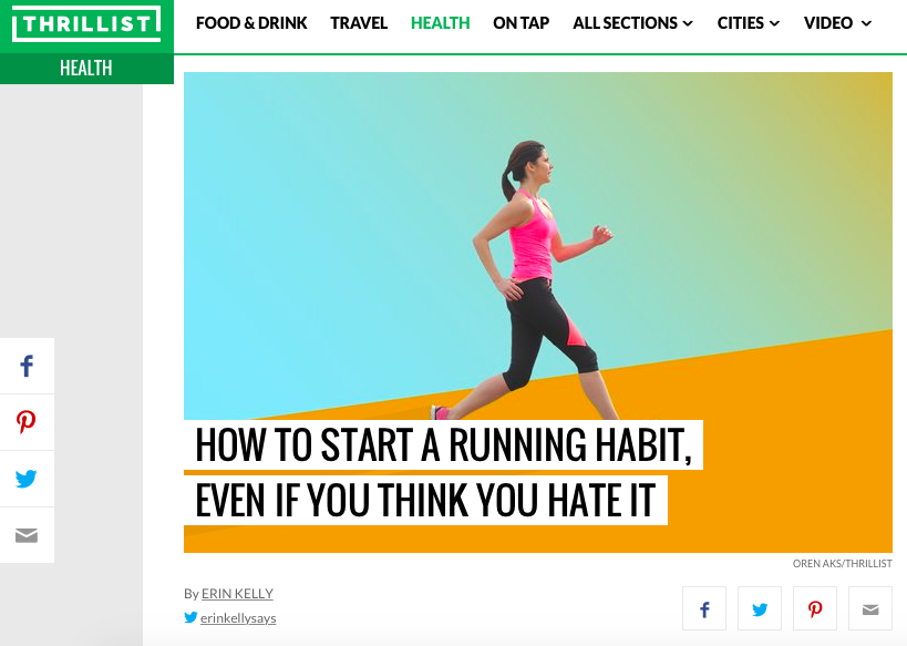 Runstreet coach Marnie Kunz's running tips in Thrilllist.