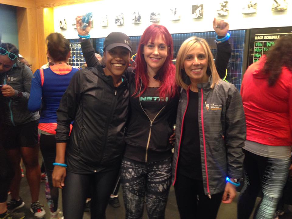 Light Up the Night Run organizers Alison Desir, Marnie Kunz and Kathy  Ioannou brought their crews together in a run to call attention to the need for better lighting in NYC parks.