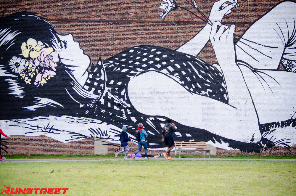 Photo at  Faile  mural in Greenpoint, Brooklyn, by  Filles Garcons NY .