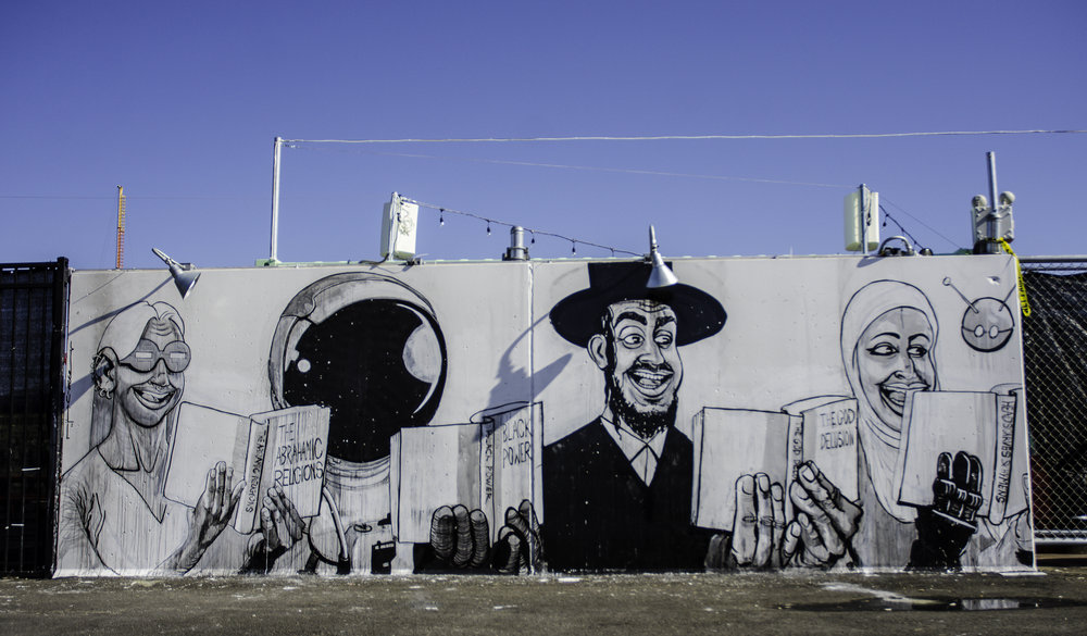 Ganzeer's new mural at Coney Art Walls in Coney Island.