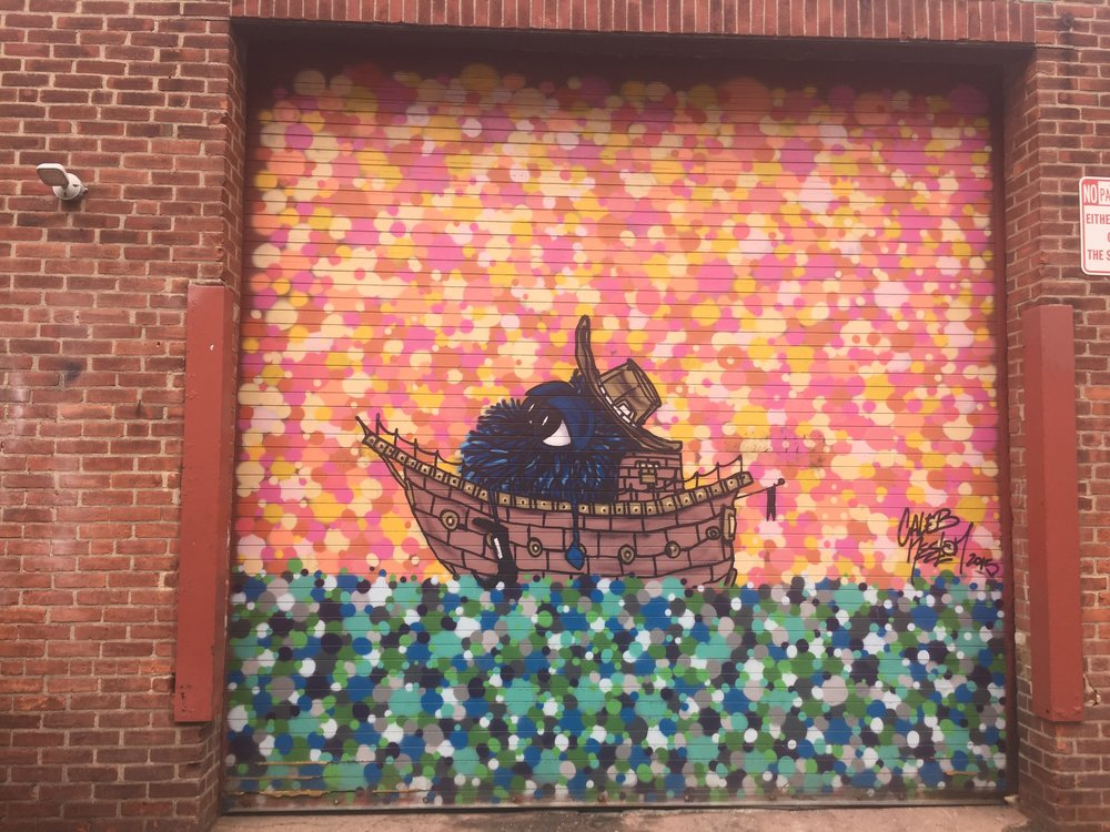 Cambridge mural by  Caleb Neelon .