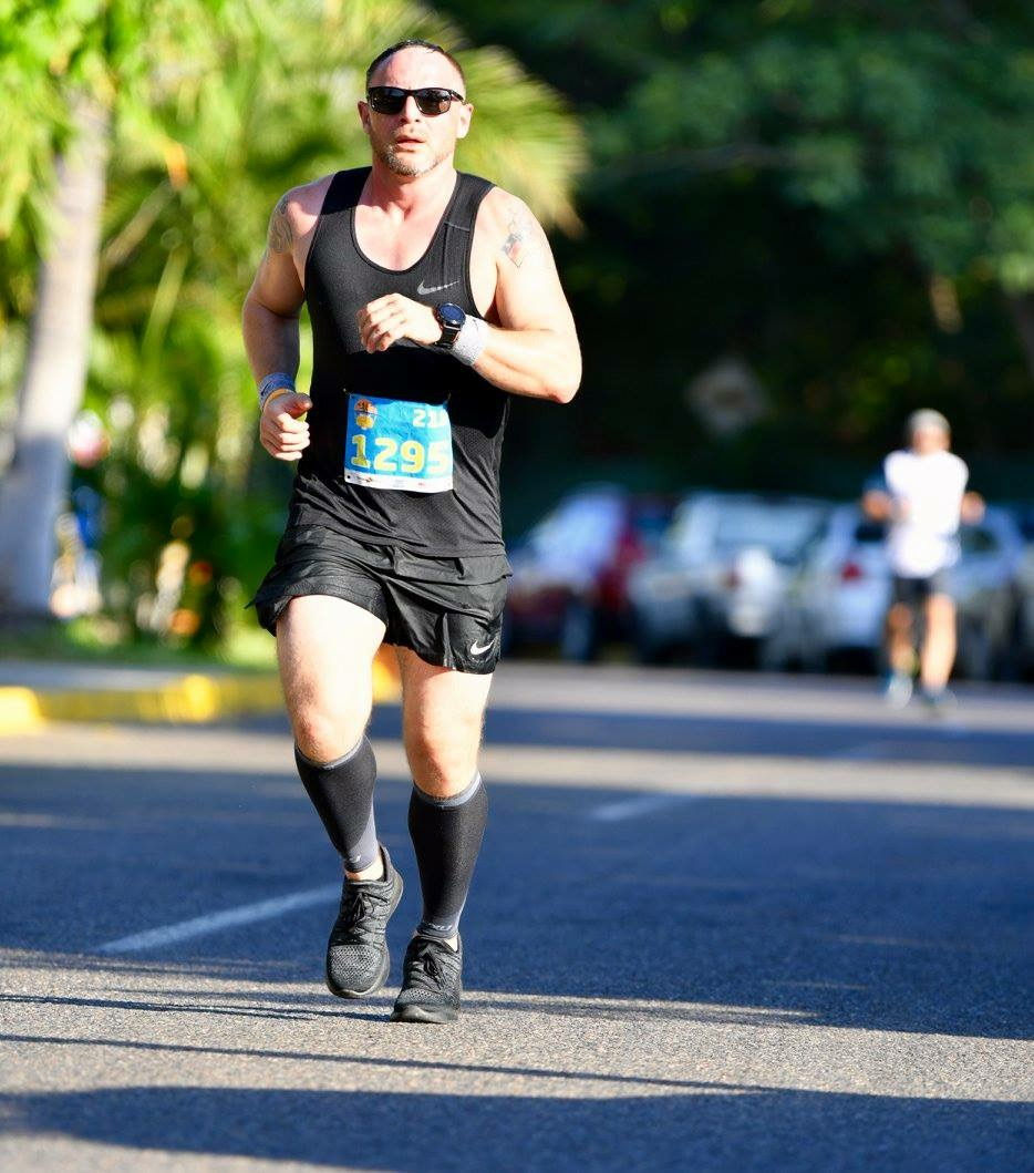 Derek crushed the half marathon, after doing a 50-mile race and the NYC Marathon within the weeks before.