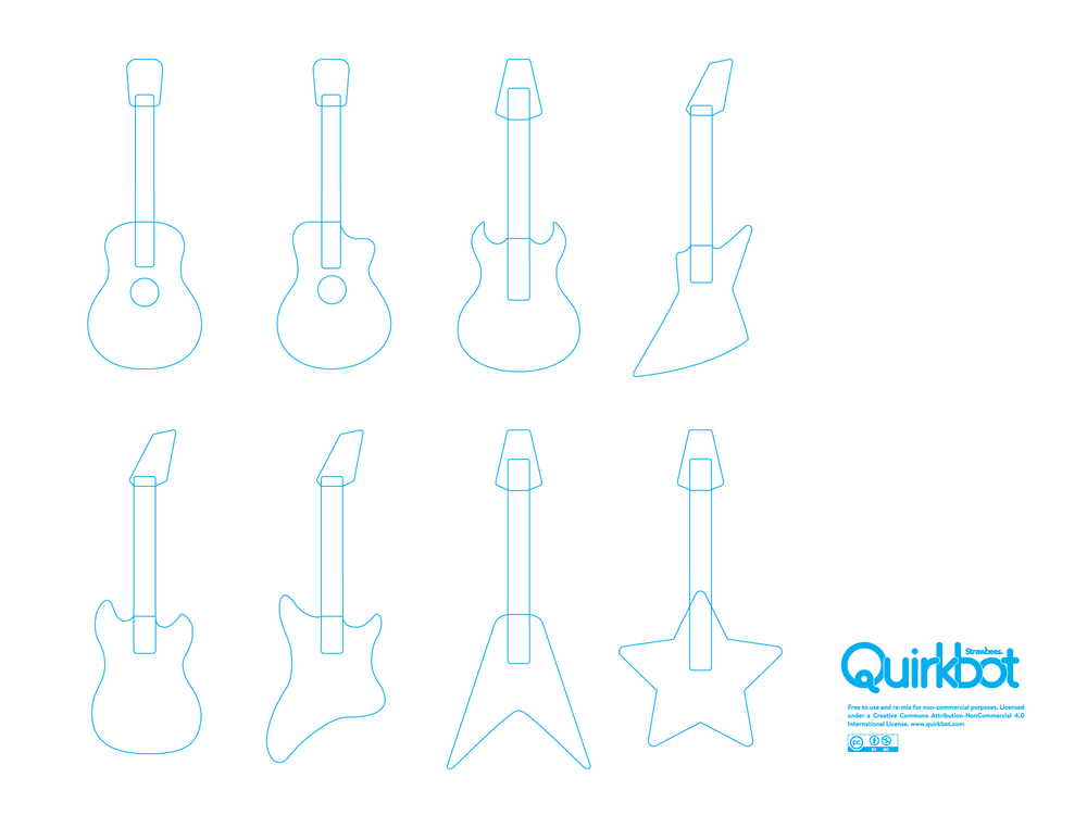 Guitars line art PDF