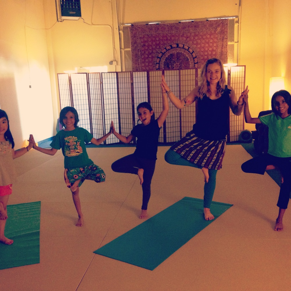 Butterfly Yoga in Foster City, CA Group Tree Pose
