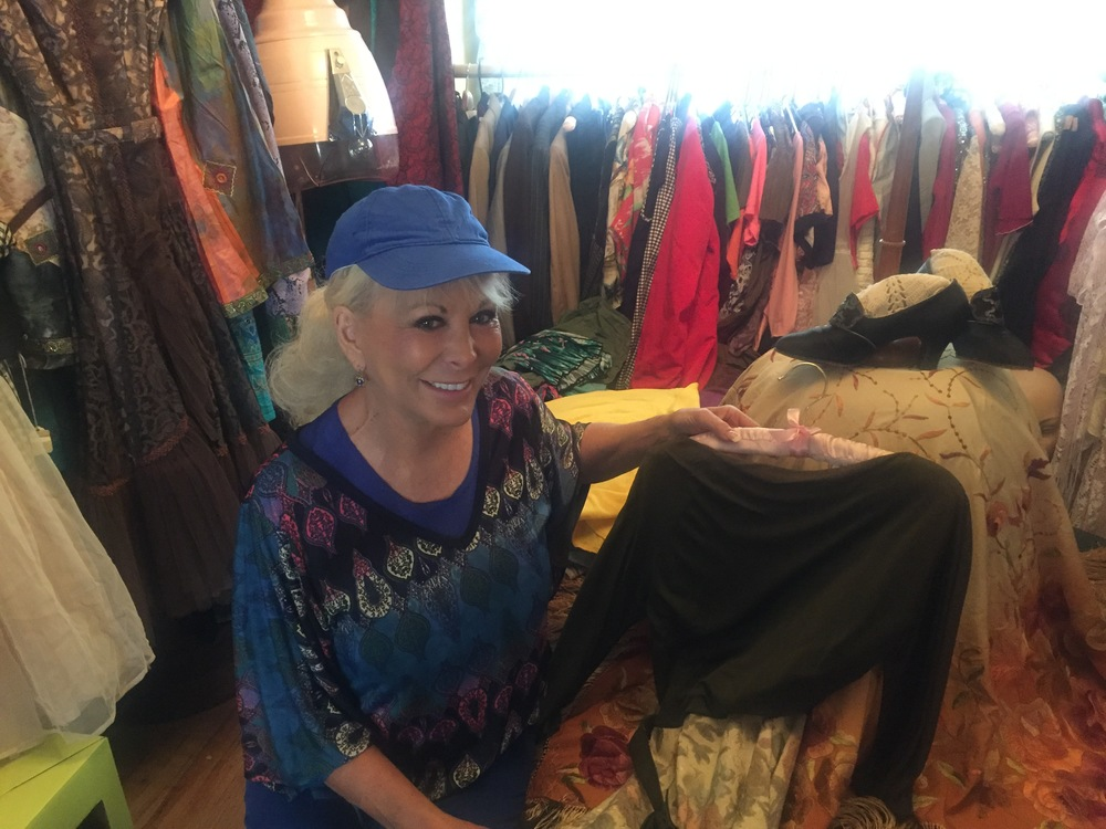 Gorgeous Leslie in the pristine vintage clothing collection