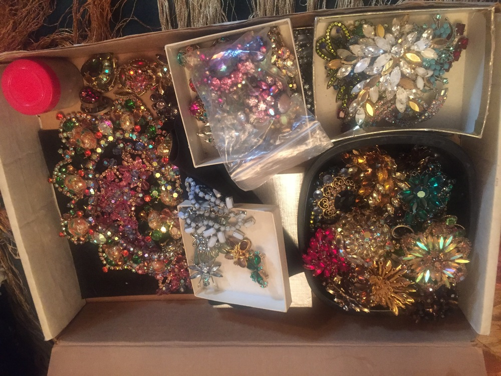 Just a teensy snippet of the costume jewelry, I was drooling