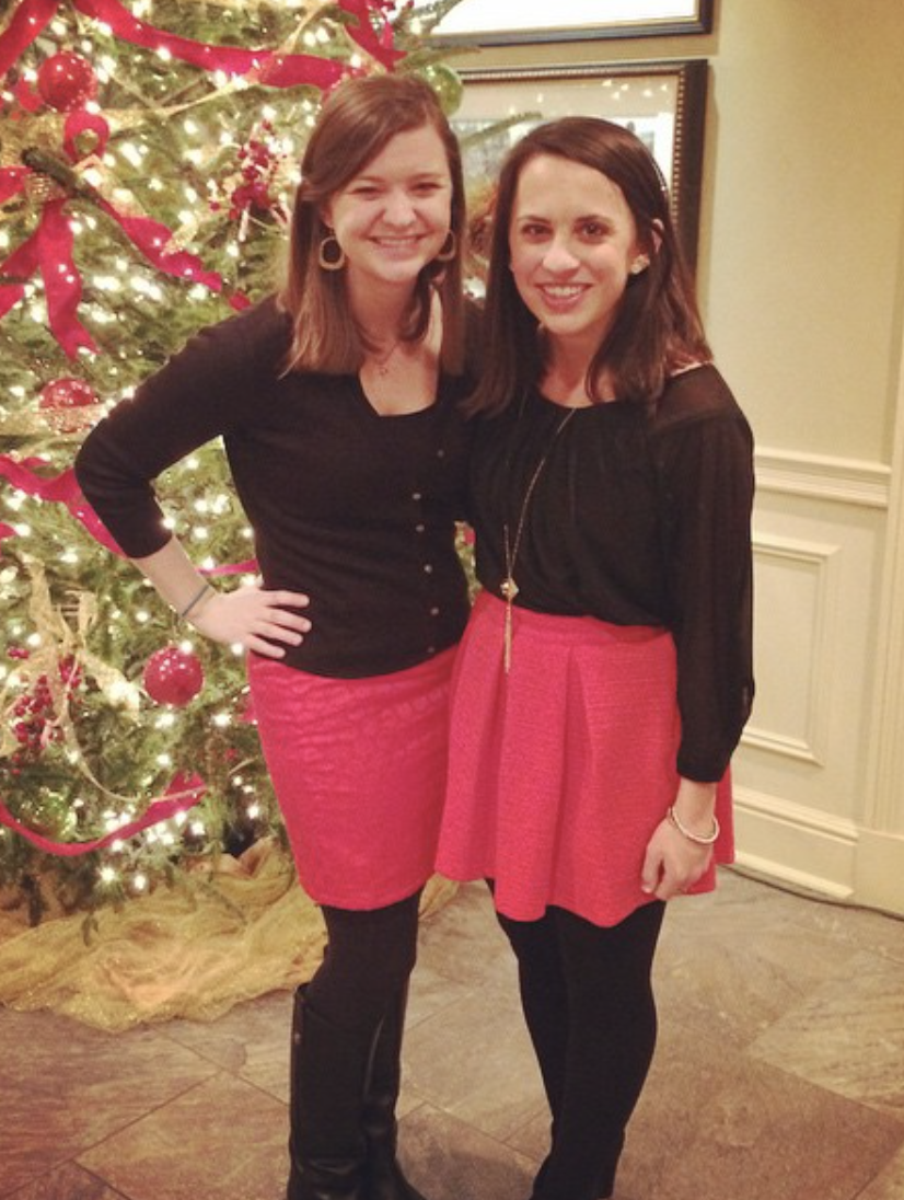 This one time we dressed the same for the Christmas party completely on accident!