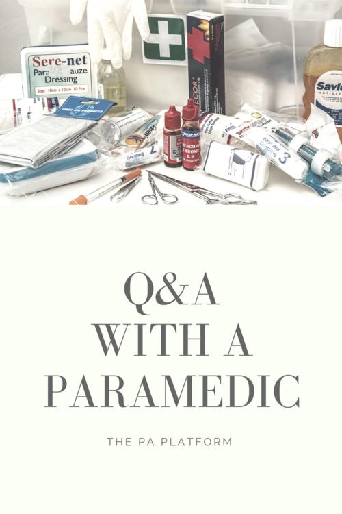 Qa With A Paramedic The Pa Platform
