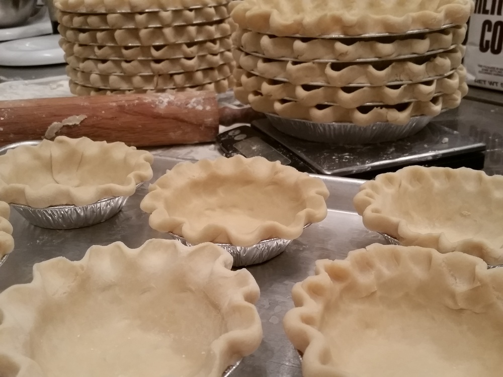 We make hundreds of pie shells weekly