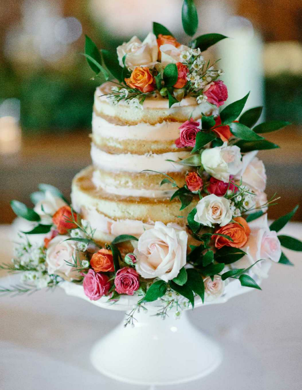 Naked Cake (shaved with blush frosting)