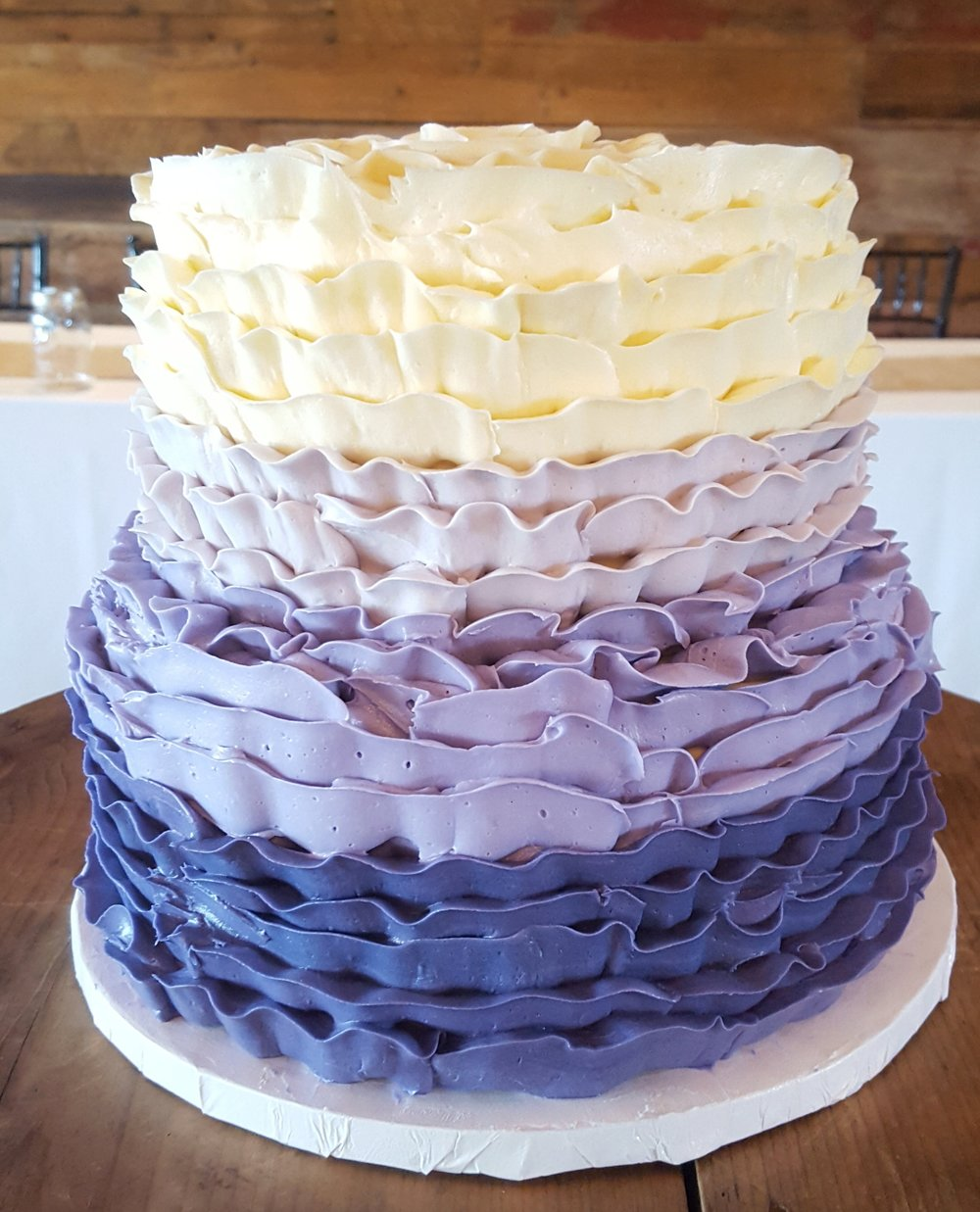 Inverted Ruffle Cake