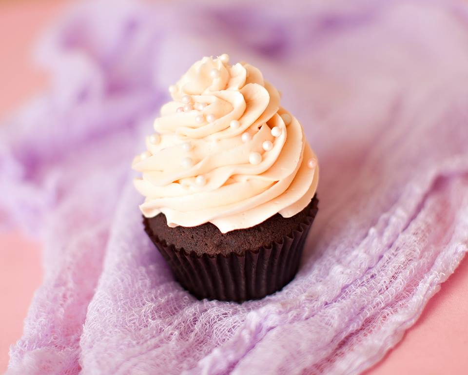 Our Eternity cupcake only makes an appearance on our menu on Valentine's Day!  Eternity is a Chocolate cake with a Chambord buttercream.