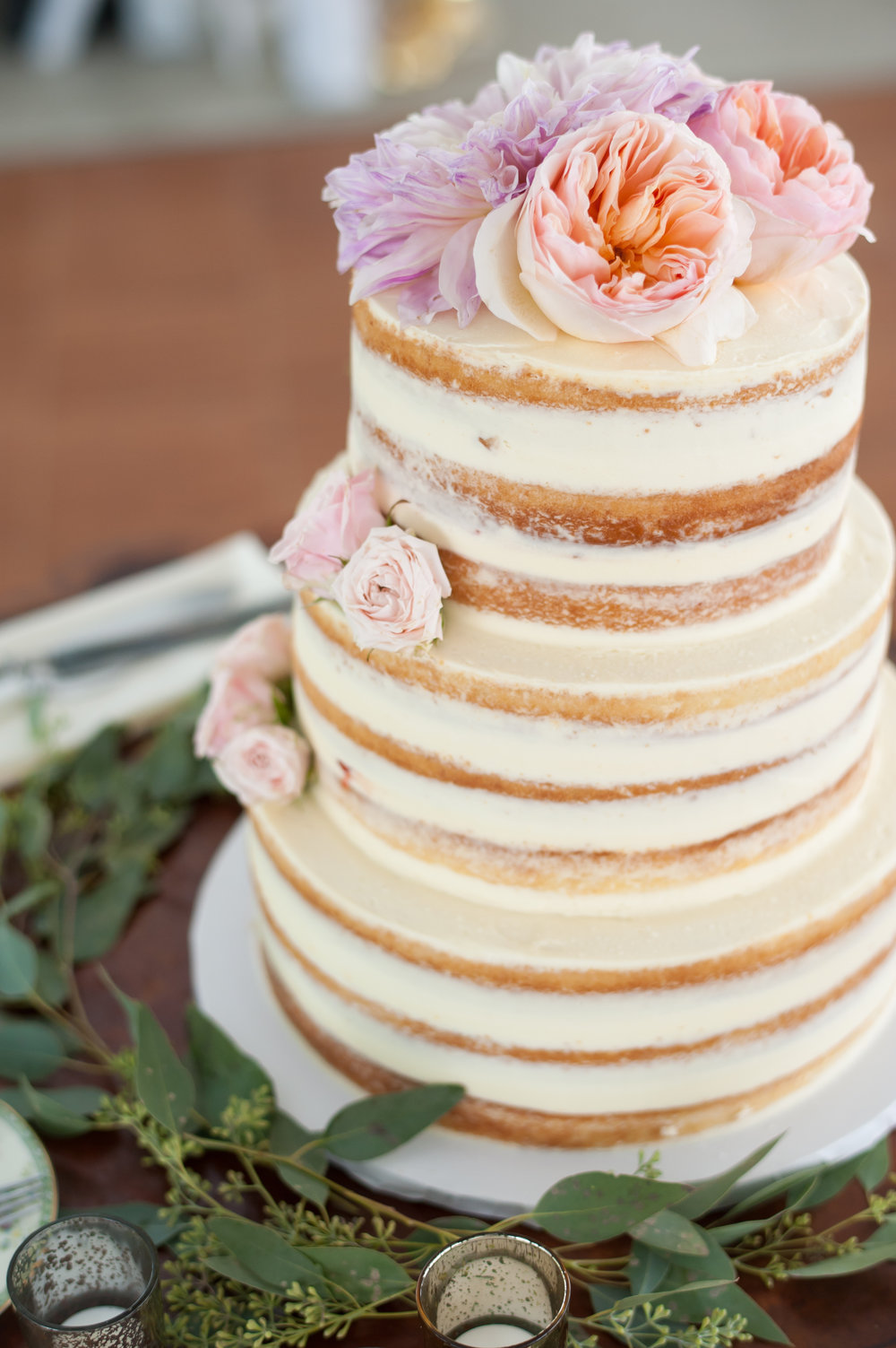 Our Naked cake on Borrowed & Blue