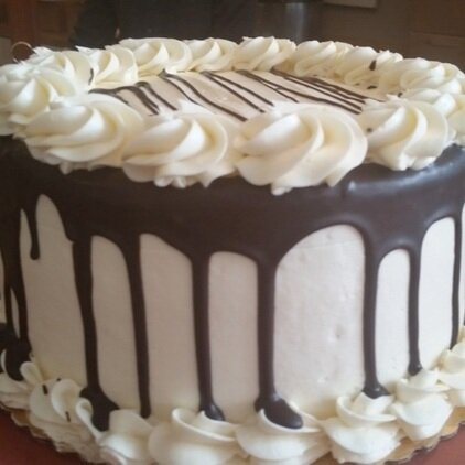 Black + White Cake