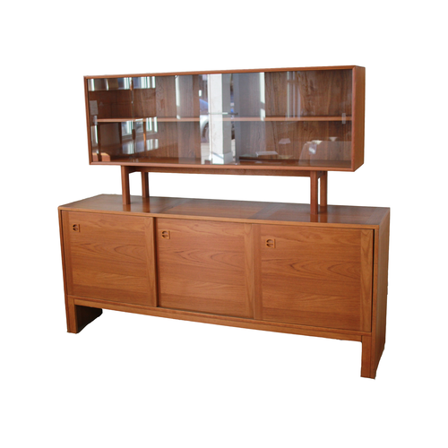 Danish Credenza with Floating Room Divider Cream City Restoration Co