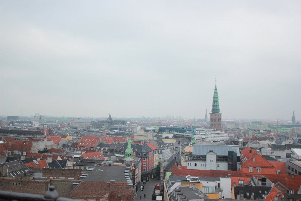 We climbed The Rundetaarn. It is a 17th-century tower located in central Copenhagen. Beautiful views at the top after an exhausting walk up with a baby and stroller! Worth every second!