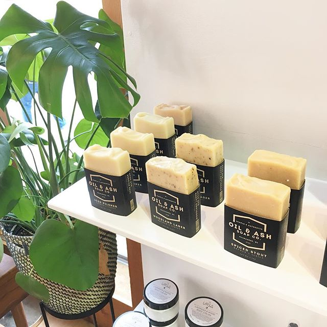 We have a bunch of @oilandashsoap soap & @shopursa goodies in the shop to make you and your bathroom smell amazing! Stop on in and snag some up!