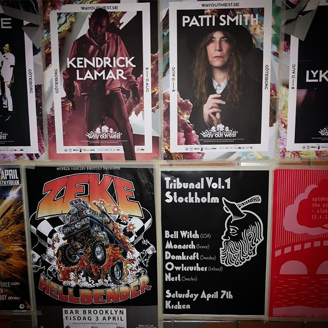 I won't post one for every poster,  but this is pretty good company. @chief_keem1 #tribunalvol1 @krakensthlm @monarch_doom @nesthate @domkraftdomkraft @bellwitchdoom #owlcrusher
