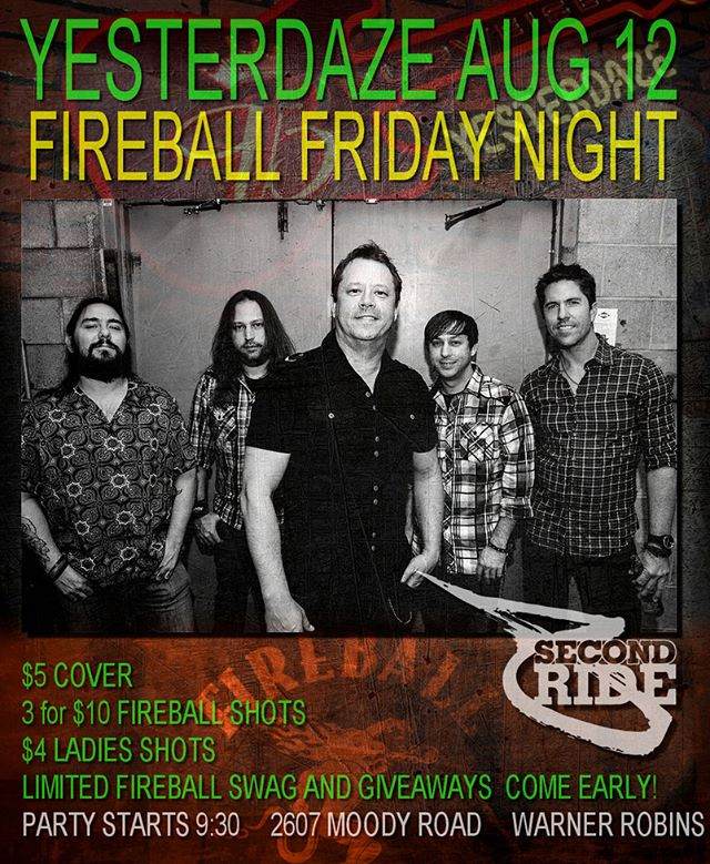 Going to be back in Warner Vegas this weekend. Yall come out and party with us at Yesterdaze THIS FRIDAY NIGHT! Where is all our middle Georgia party people at? Holly has the Fireball specials going and some stuff to give away to people who are drinking the Fireball specials. Looking forward to cranking the weekend up!