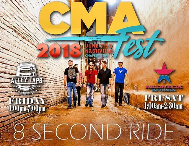 Our two shows are Friday during CMA Fest.  Come hang!