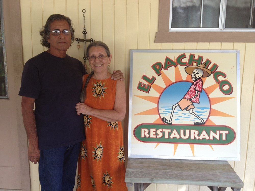"Evelyn and James Gonzalez (Mexican/Chicano). Owners ""El Pachuco Restaurant."" Big Island."