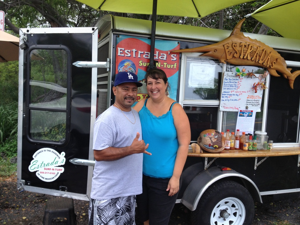 "Jorge Estrada (Chicano). ""Estrada Surf and Turf Taco Truck."" Big Island."