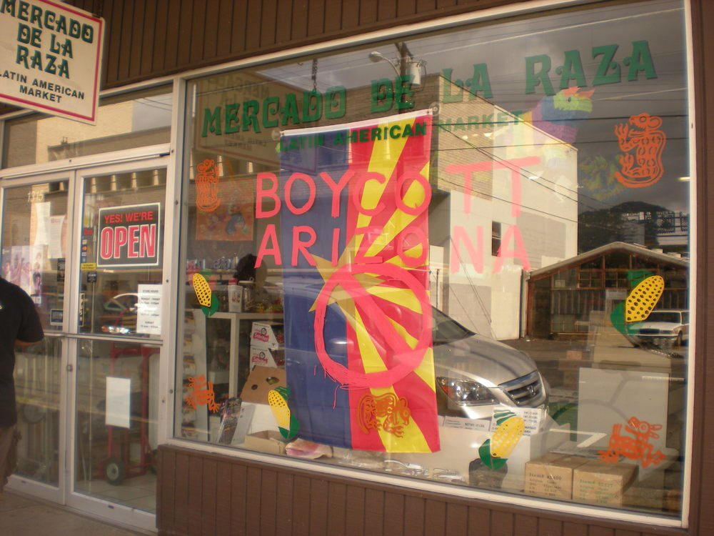 "Mercado de la Raza photo ""Boycott Arizona."""