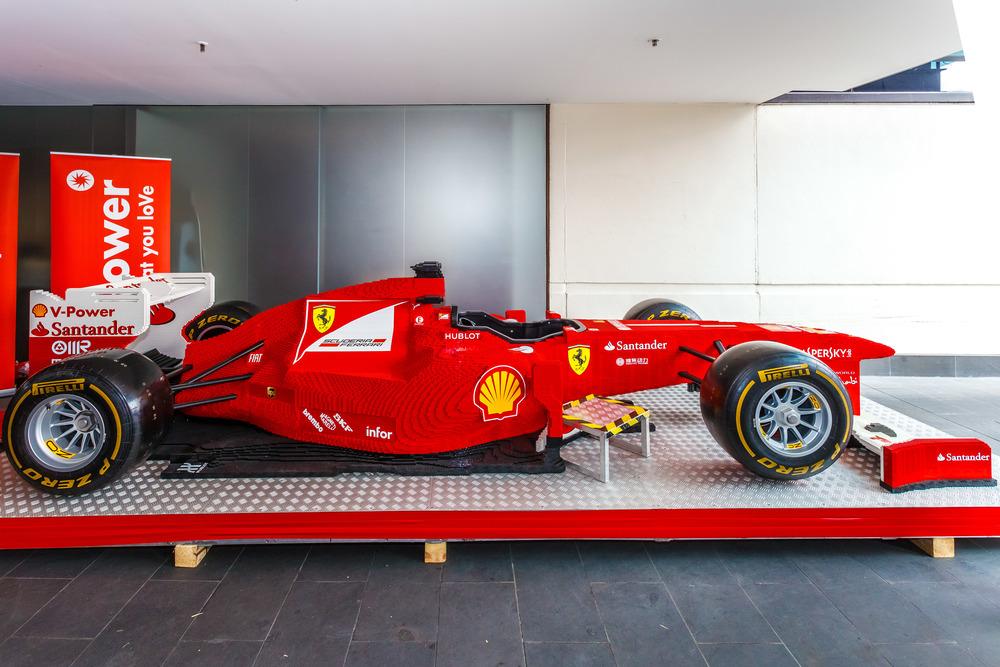 Lego Ferrari to promote V-Power petrol