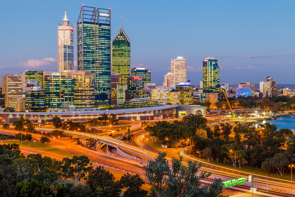 Perth Skyline from Kings Park Western Australia