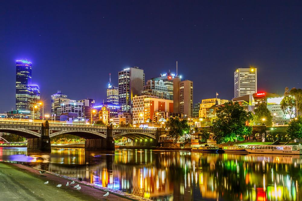 Melbourne CBD and Princes Bridge
