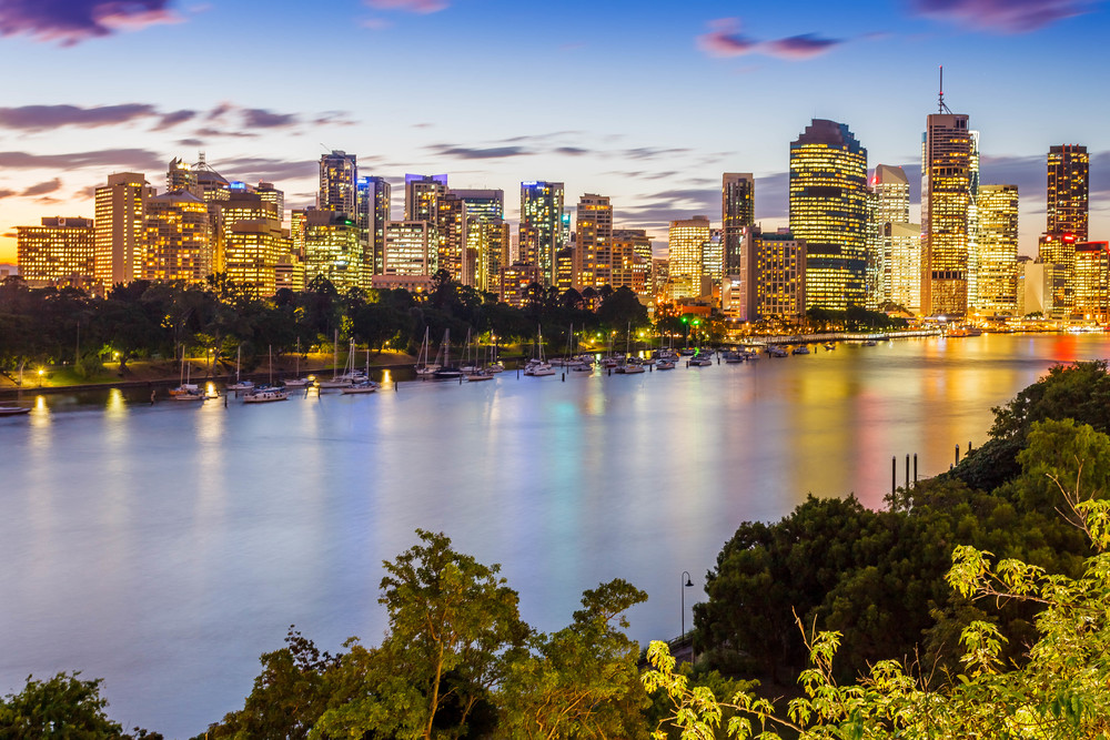 Brisbane CBD and Brisbane River Queensland