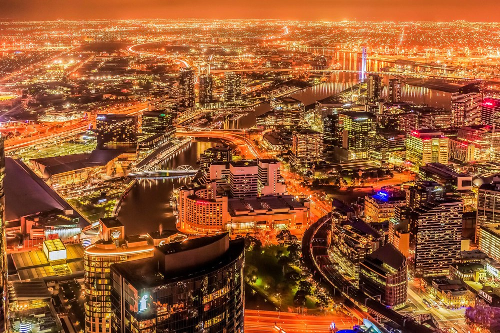 Melbourne from Skydeck 88