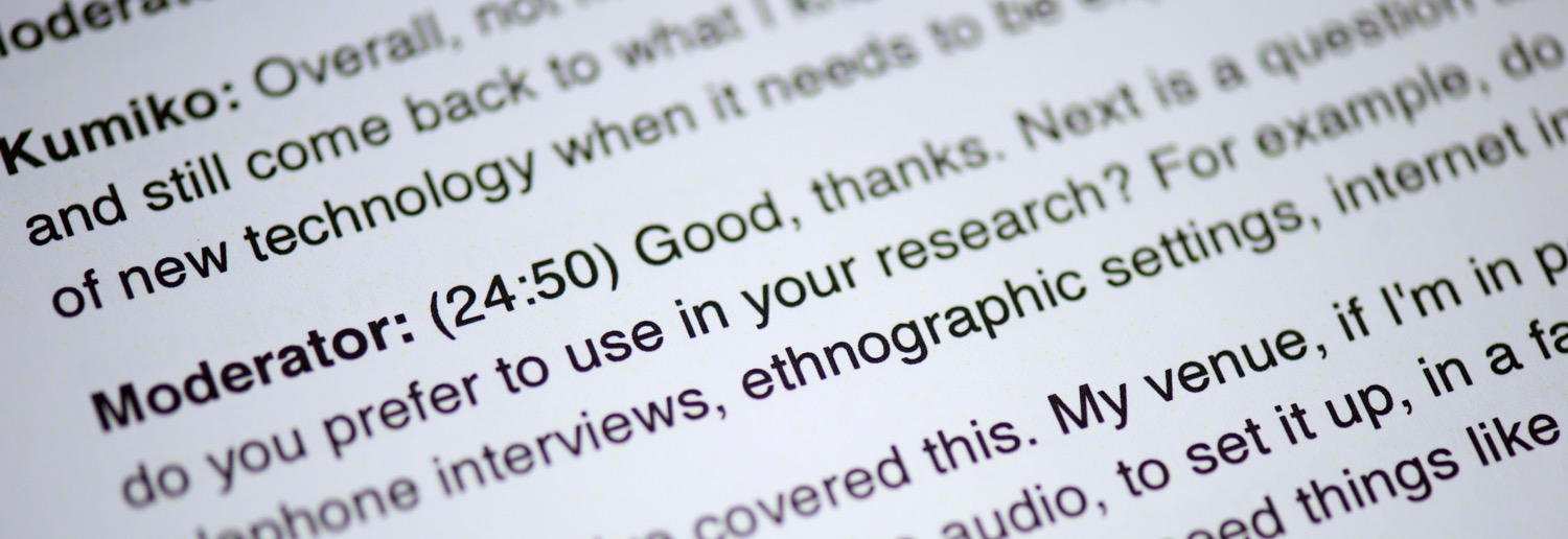 sample ethnographic interview paper