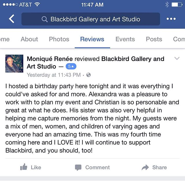 Honestly, the reviews from our guests makes us love what we do. We are so blessed to have such incredible, awesome people visit us at Blackbird, it really makes doing our job easy. Thank you to everyone who has come to paint with us at the gallery, we want to give you 5 stars for being amazing clients! ⭐️❤️ #guestappreciation #customerappreciation #thankyou #bestclients #jerseycity #hoboken #jcmakeityours #jcart #art #gallery #studio #artists