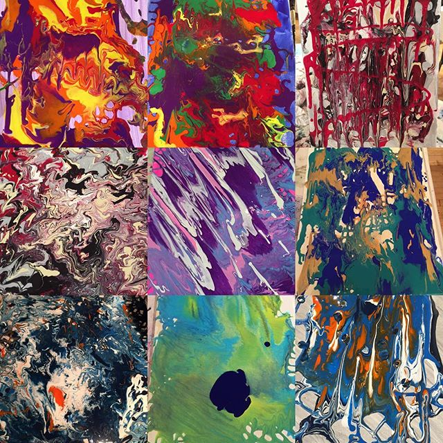 Hey guys here are some examples of the awesome artwork that we created last Saturday at our abstract art class! Everyone did such an amazing job ,,,if you would like to check it out comment below or send us an email! #paintandsip #jerseycity #jerseycitymakeityours #datenight #paintandsip #jc